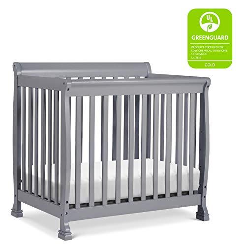 Davinci Kalani 4 in 1 Convertible Mini Crib and Twin Bed, Grey