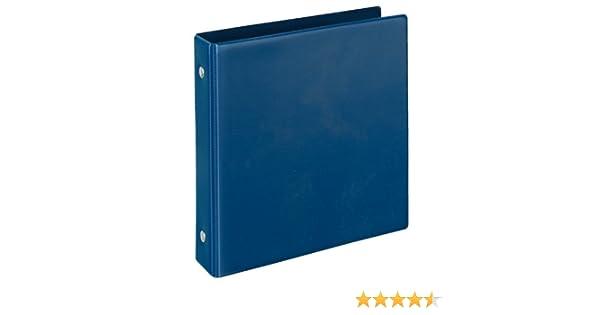 Archivador 2 anillas color azul: Amazon.es: Oficina y papelería