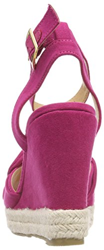 Buffalo Damen 316993 Bhwmd B619# Imi Sued Riemchensandalen Pink (FUSCHIA 01)