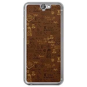 Loud Universe HTC One A9 Tea Time 6 Printed Transparent Edge Case - Brown