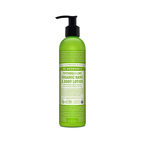 Dr Bronner's 8oz/ 237ml Organic Patchouli Lime Lotion