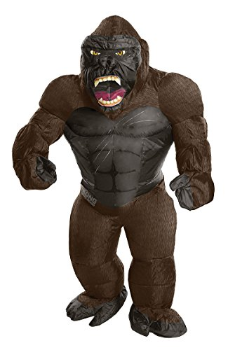 Rubie's Costume Co. Men's Skull Island Inflatable King Kong Costume, As Shown, One Size (Monkey Halloween Costume For Adults)