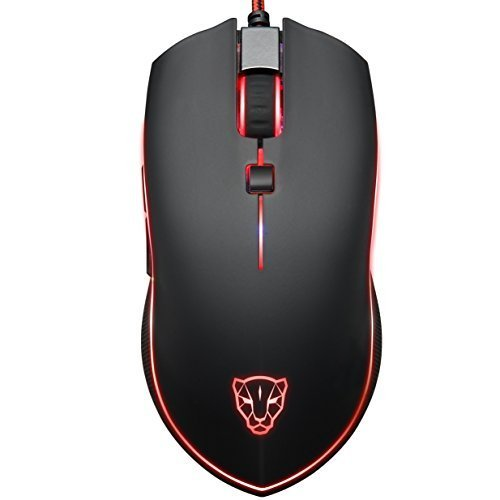 ECHTPower(TM) Ergonomic Design 6D 4000 DPI LED Optical USB Wired Professional Gaming Mouse, 6 Buttons with 3D Scrolling Wheel, 6 DPI Macro Programmable Levels for Pro Game Notebook, PC, Laptop