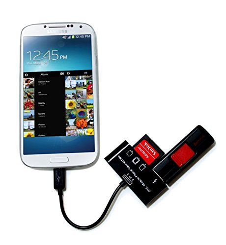 3 in 1 USB OTG Host Adapter SD Card Reader for Samsung Galaxy S4 S2 S3 Note 2
