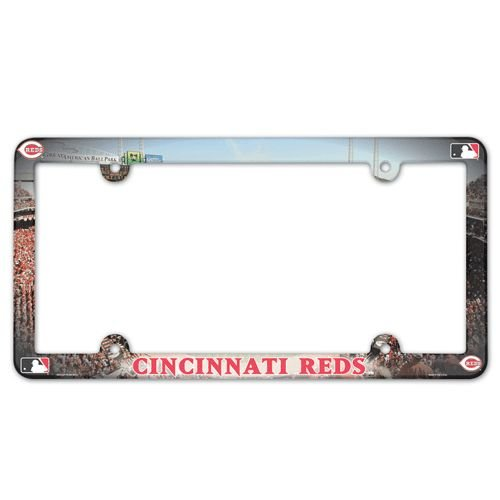 MLB Cincinnati Reds LIC Plate Frame Full Color