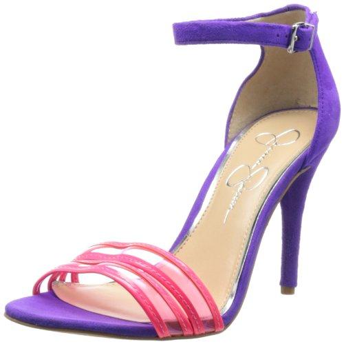 Jessica Simpson Women's Jessies Ankle Strap Sandal,Laser Pink,9 M US