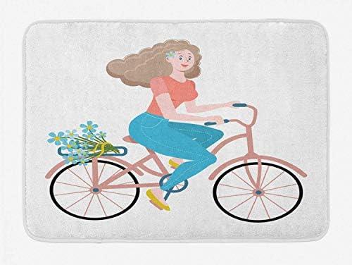 FancyPRINT Alfombra de baño de Bicicleta Vintage, Estampado de ...