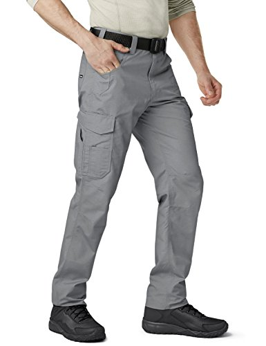 CQR CQ-TWP302-STN_44W/32L Men's Operator Rip-Stop Tactical Work Utility Pants EDC TWP302 by CQR