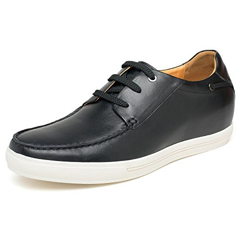 CHAMARIPA Chaussure rehaussante 7 cm Hommes grand Men Cuir Talonnette Grandissante loisir Shoes Sneakers
