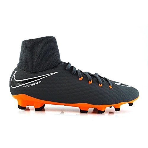 Nike Phantom 3 Academy DF FG, Zapatillas de Fútbol Para Hombre, Gris (Dark Greytotal Orangewhite 081), 43 EU