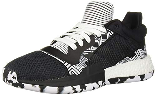adidas Men's Marquee Boost Low Basketball Shoe White/Black, 20 M US ()