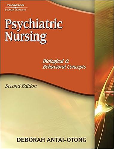 Psychiatric Nursing Biological Behavioral Concepts 9781418038724