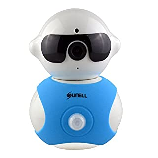SUNELL 720P HD Wireless Mini Smart Home Monitoring Camera with 355 Degrees Rotation Plug/Play Motion Dectector Remote Viewing Two-way Audio Night Vision for IOS Android
