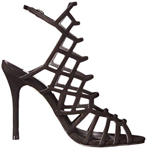 Steve Women's Black Slithur Madden Dress nubuck Sandal r01rq4