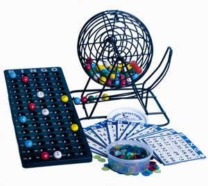 Deluxe Game Cage Bingo (Mr. Chips Complete Deluxe Small Plastic Coded Bingo Party Set with w/No-Glare, Fade and Scratch Resistant NEW Proprietary Technology 7/8