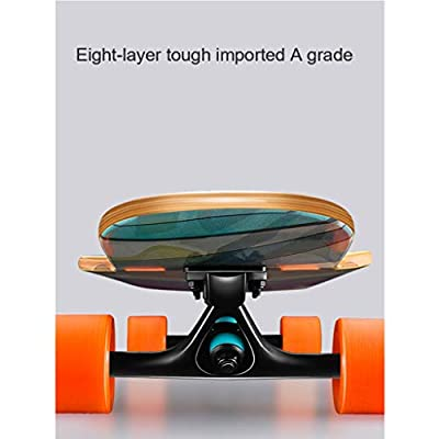 """OFFA Longboard 46""""Inches Drop Through Complete Skateboard 8 Layer Maple Wood Skate Board, Deck Complete Cruiser for Kids Adults, Beginners, Boys, Girls, Teens (Color : D): Home & Kitchen"""