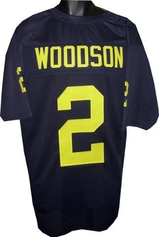 sports shoes ed352 35f61 Autographed Charles Woodson Jersey - unsigned Navy TB Custom ...