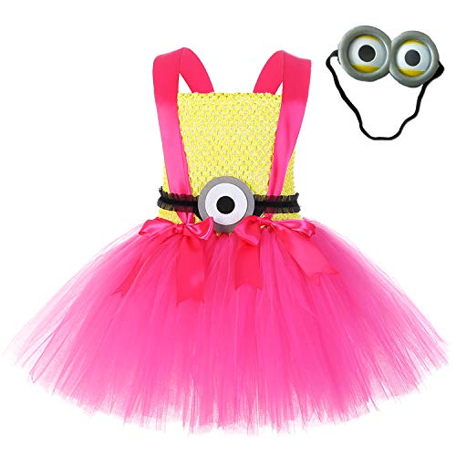 Halloween Dave Minion Costume for Girls Despicable Me Tutu Dress (Minions, 2XL) -