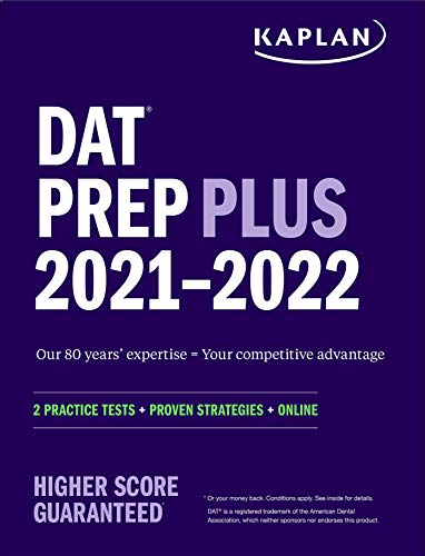 DAT Prep Plus 2021-2022: 2 Practice Tests Online
