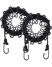 Retractable Portable Travel Clothesline,Adjustable Rope,Drying Rack for Household Essentials Outdoor Indoor(Black 2 Pcs)