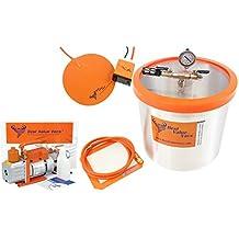 3 Gallon Best Value Vacs Aluminum Vacuum Chamber & 3 CFM Single Stage RS-1 Vacuum Pump & 9'' Digital Heat Pad *FREE SHIPPING*