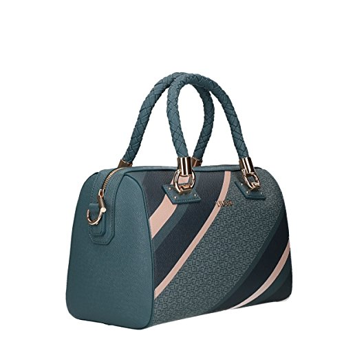 Liu Jo Manhattan block hand bag blue