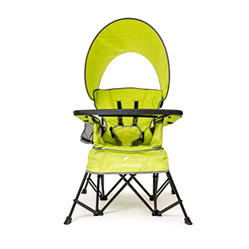 (Baby Delight Go with Me Chair | Indoor/Outdoor Chair w/Sun Canopy | Lime Green | Portable Chair converts to 3 Child Growth Stages: Sitting, Standing & Big Kid | 3 Months to 75lbs | Weather Resistant)