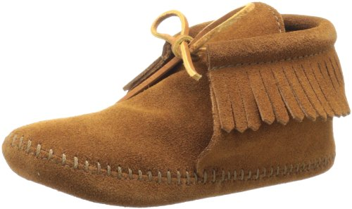 Minnetonka Classic Fringe Softsole Boot (Toddler/Little Kid/Big Kid),Brown,1 M US Little Kid - Girls Fringed Boots