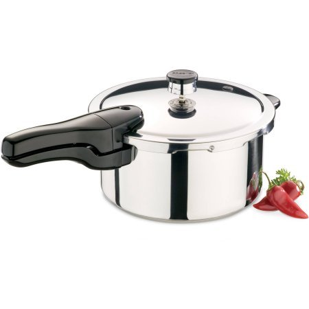 Presto 4-Quart Stainless Steel Pressure Cooker, 01341