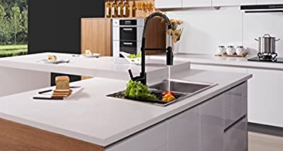 TimeArrow Modern Single Handle Pull-Down Sprayer Kitchen Sink Faucet