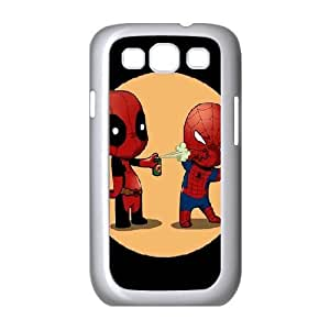 Bloomingbluerose Spider Man and Deadpool Samsung Galaxy S3 Cases, Men Cool Samsung Galaxy S3 Case Luxury {White}