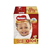 HUGGIES Little Snugglers Baby Diapers, Size 5, 104 Count