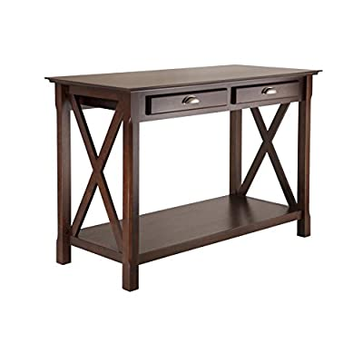 Winsome Wood Xola Occasional Table, Cappuccino finish - Wood console/hall table with 2 drawers and lower shelf Sturdy constructions with contemporary styling Rich cappuccino finish - living-room-furniture, living-room, console-tables - 41luFCmqMfL. SS400  -