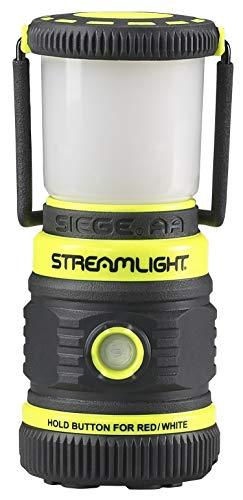 Lantern Battery Aa Batteries - Streamlight 44943 Siege 200 Lumen Ultra-Compact Work Lantern (Yellow, 3xAA Battery)