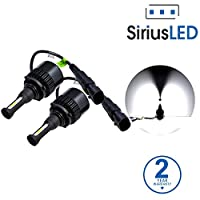 SiriusLED Extremely Bright COB LED Chip 8000 Lumens Headlights Fog Lights Bulb Conversion Kit 9006 HB4 6000K Xenon White
