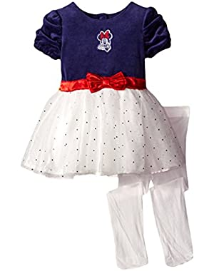 Baby Girls' Minnie Mouse Tulle Dress and Tights