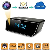 Spy Camera Mini WiFi Hidden Camera with Alarm Clock,Baby Monitor,HD 1080P Security Surveillance Cameras Nanny Cam with...