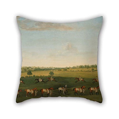 Throw Cushion Covers 18 X 18 Inches / 45 By 45 Cm(two Sides) Nice Choice For Living Room Dining Room Coffee House Gf Bench Oil Painting Francis Sartorius - Sir Charles Warre Malet's String Of Raceh