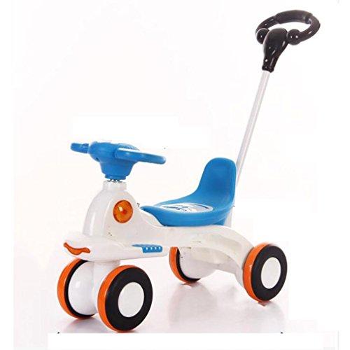 GOUGOU Children's four-tyre music mute wheel twist-twist car sliding car swing car , A by YANQI