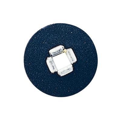 3M 1958C Sof-Lex Square Eyelet Disc Refill, Coarse Grit, 5/8'' Diameter, Black (Pack of 100)