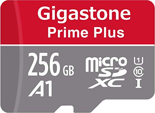 Gigastone 256GB Micro SD Card, Prime Plus, A1 Run App for Smartphone, Nintendo Switch Compatible, 100MB/s, 4K Video Recording, Micro SDXC UHS-I A1 U3 Class 10