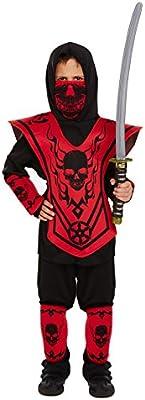 Disfraz de Ninja Infantil Talla Grande Edad 10-12 años: Amazon.es ...