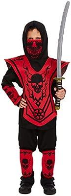Disfraz de Ninja Infantil Talla Grande Edad 10-12 años
