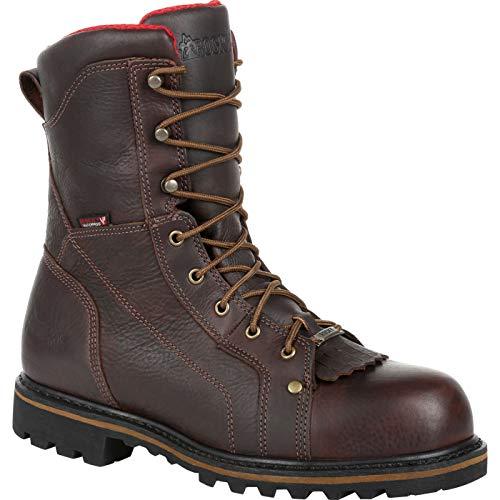 ROCKY Steel Toe Waterproof Logger Brown ()