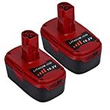 2 Pack 19.2V 5.0Ah Replacement for Craftsman 19.2 Volt Battery Lithium C3 Diehard Batteries 130279005 130211004 1323903 11045 315.115410 11375 315.11485