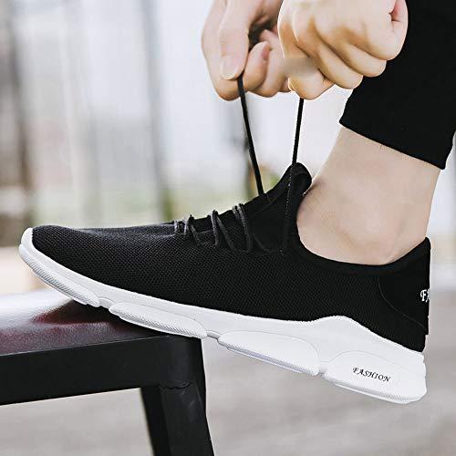Sneakers up MOIKA Uomo piatto Uomini Scontate casual Lace scarpe esecuzione Nero sneakers ragazzi Sport in traspirante solido dnn6xfrwP