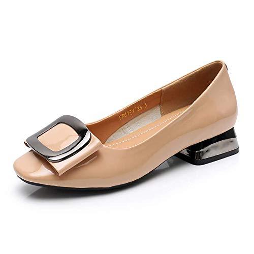 Zapatos de la de de Zapatos Boda Boca de de cómodos Baja señoras Moda Las Casuales Zapatos FLYRCX de Zapatos C Trabajo Cuero xZ70Zw