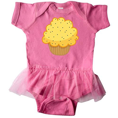 - inktastic - Lemon Poppyseed Muffin Infant Tutu Bodysuit 18 Months Raspberry 58b1