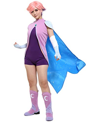 Coskidz Women's Princess She Ra Glimmer Cosplay Costume Bodysuit with Cape (XL, Multicolored)