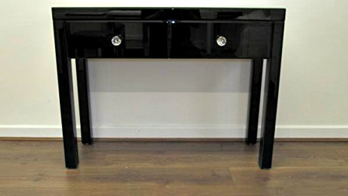 Black glass dressing tables uk dress blog edin for Skinny dressing table